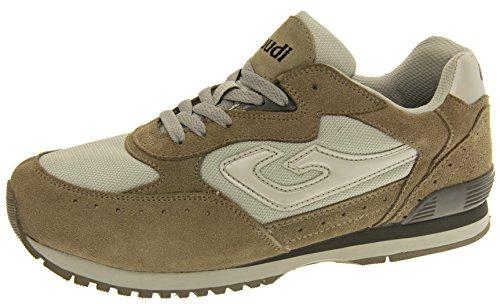 Gaudi Uomo Grigio Pelle Sneaker Trainer EU 41