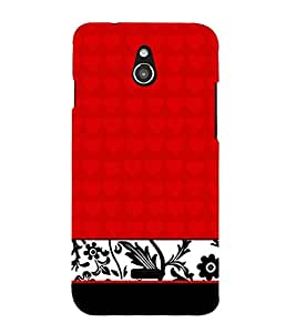 Red Classic Floral Girly 3D Hard Polycarbonate Designer Back Case Cover for InFocus M2