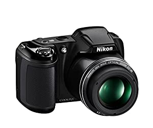 Nikon Coolpix L340 20.2 MP Digital Camera with 28x Optical Zoom and 3.0-Inch LCD (Black) (Certified Refurbished)