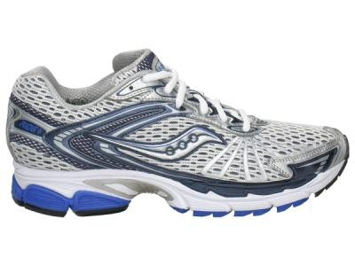 Saucony Men's Progrid Ride 4 Running Shoe,White/Navy/Blue,10.5 M US