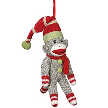 #!Cheap New Sock Monkey Santa Ornament for Christmas Holiday Tree / Stocking Stuffer / Party Favors / Gift Giving
