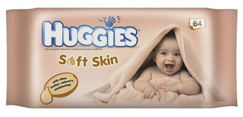 Huggies Baby Wipes Soft Skin with Shea Butter, 64-Count (Pack of 10) - 1