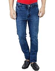 Mens Jeans Offer Low Price Deal Slim Fit Regular Waist (Dark Blue, 28)