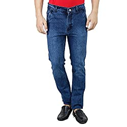 SAVON Mens 1020 Slim Fit Stretch Blue Denim Jeans For Men 34