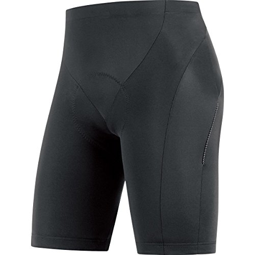 GORE BIKE WEAR, Tights Ciclismo Uomo, Imbottiti GORE Selected Fabrics, ELEMENT short+, Taglia M, Nero, TELETS990004