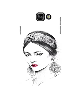 EPICCASE Cute Face Lady Mobile Back Case Cover For Samsung Galaxy A7 (2016) (Designer Case)
