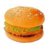 Faithtur チキン ハンバーガー 幼児のおもちゃ 小動物犬 ラバー おもちゃ (ハンバーガー)
