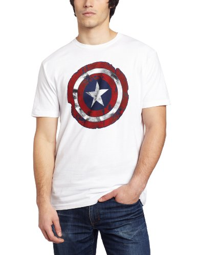 Marvel Captain America Men's Battle Shield T-Shirt