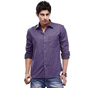 Peter England Men Shirts PSF 5114451 Violet
