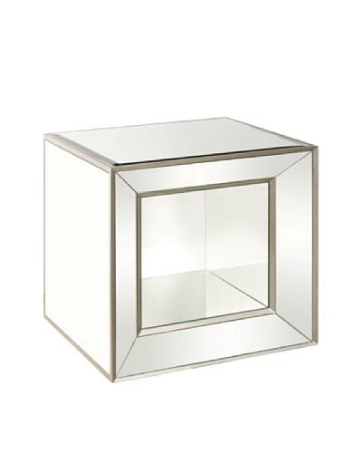 Bassett Mirror Minetta Mirrored Accent Table, Mirrored As You See