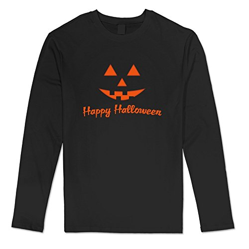 [DF Men's Tutorials Happy Cat Halloween Pumpkins T-shirt Black Cool] (Trevor Halloween Costume)