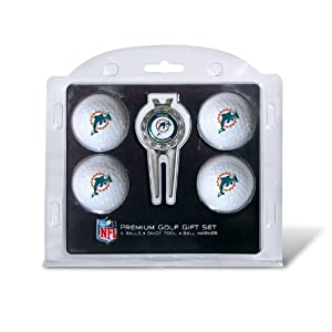 NFL Miami Dolphins 4 Golf Balls and Divot Tool