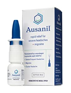 Ausanil Nasal Spray for Rapid Relief of Severe Headaches + Migraine (Less than 60c per dose, up to 50 doses per bottle). Formulated by a neurologist to treat his own migraine pain.