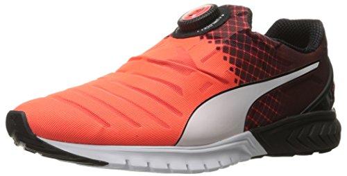 PUMA Men's Ignite Dual Disc Running Shoe, Red Blast/Puma Black/Puma White, 13 M US