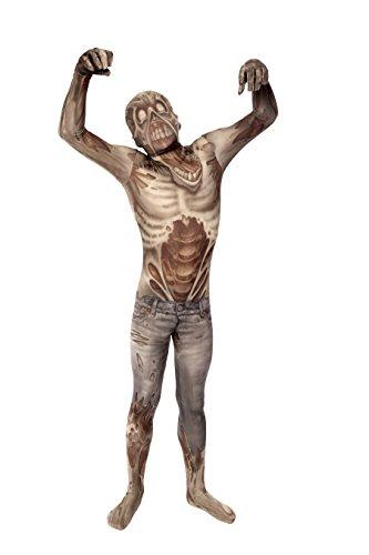 Costume Carnevale Halloween Tuta ufficiale Morphsuit Zombie bambino