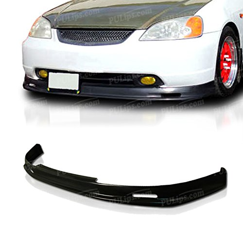 PULIps HDCV01MUFAD - M-Spec Style Front Bumper Lip For Honda Civic 2001-2003 (Honda Civic 2003 Front Bumper Lip compare prices)