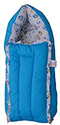 Jack & Jill Baby Bedding set/Baby Bed/Baby Carrier/ Sleeping Bag/ New Born/Just Born - Floral Blue (S)