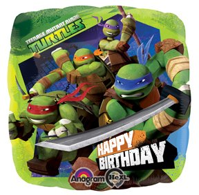 "Ninja Turtles 18"" Foil Birthday Balloon"