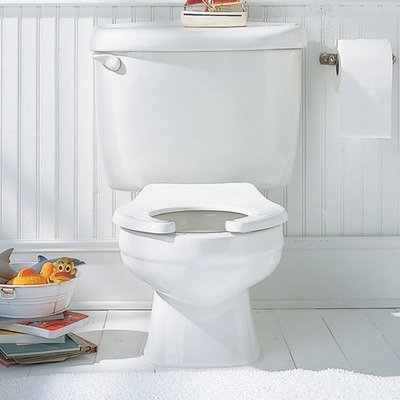Baby Devoro Round Front Toilet Finish: White
