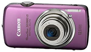 Canon PowerShot SD980IS 12.1MP Digital Camera with 5x Ultra Wide Angle Optical Image Stabilized Zoom and 3-inch LCD (Purple)