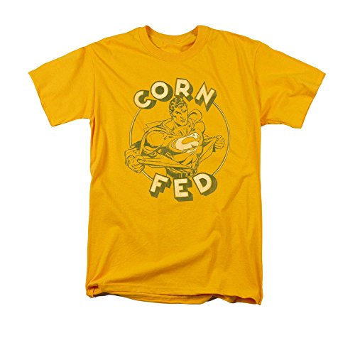 Sons of Gotham - SUPERMAN Corn Fed Adult Regular Fit T-Shirt L (Corn Fed Tshirt compare prices)