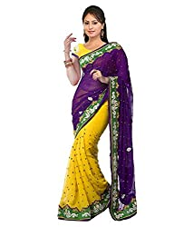 Pushkar Sarees Georgette Saree (Pushkar Sarees_12_Multi-Coloured)