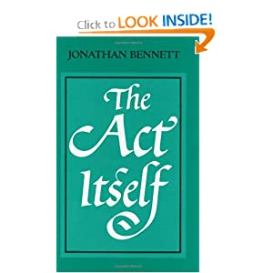 The Act Itself Jonathan Bennett
