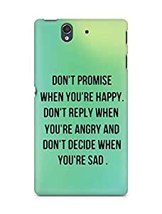 AMEZ dont promise when you are happy Back Cover For Sony Xperia Z