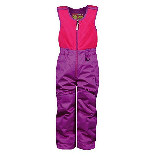 Snow Dragons Girls' Bailey Bib Grape Sparkle / Pink Raspberry 3T
