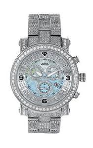 Aqua Master Men's Power One-Row Diamond Watch with Four-Link Full Diamond Bracelet, 11.60 ctw