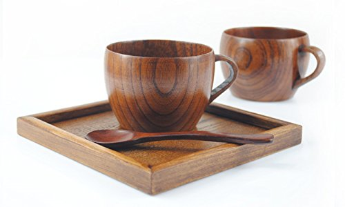 WOOD MEETS COLOR Jujube Mug, Coffee Cup, Tea Cup, Soup Bowl With Handle, Handmade Natural Solid Water Cup, 6oz, 1 Pcs