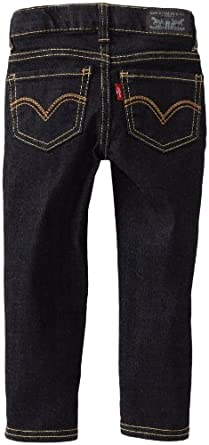 Levi's Little Girls' 535 Embroidered Stretch Jegging, Night Out, 4T