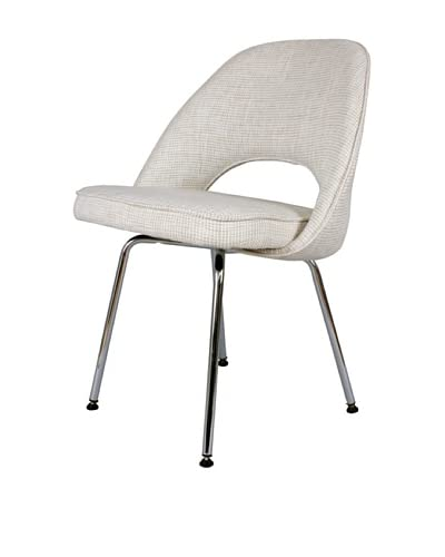 Stilnovo The Johnson Side Chair, Beige/Chrome