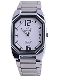 Saint Analogue White Dial Men's Watch (A017)