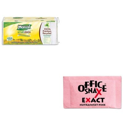 kitmrc6506ofx00061-value-kit-office-snax-nutrasweet-pink-sweetener-ofx00061-and-marcal-100-premium-r