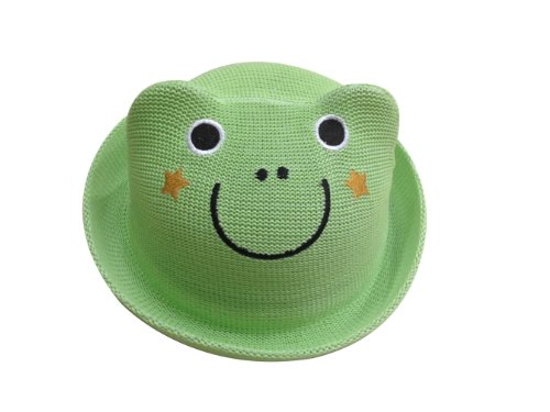 JTC Baby Child 3D Cartoon Bear/Frog/Cat/Duck/Fish Straw Hat Roll up Sun Caps