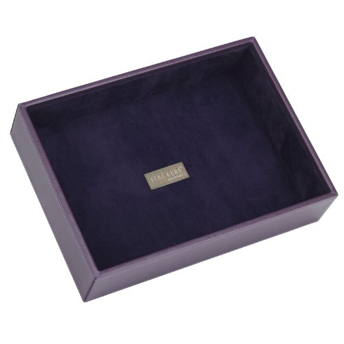 Stackers Jewellery Box | Classic Purple & Purple Velvet Deep Stacker