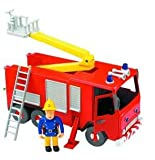 FIREMAN SAM FIRE ENGINE FRICTION ACTION JUPITER WITH SAM FIGURE