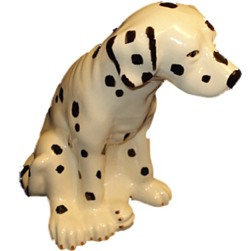 Hand Painted Ceramic Dalmatian Dog Bank - 1