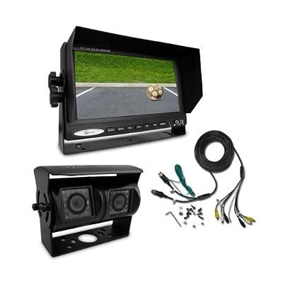 Rückfahrsystem CM-DKRFS1 mit schwarzer Twin-Rückfahrkamera für den Nah- und Fernbereich von Carmedien auf Reifen Onlineshop