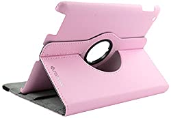 Sanoxy 360 Degrees Rotating Stand (Hot Pink) Leather Smart Cover Case for Apple iPad 2 with Wake/Sleep Capability (SANOXY_IPA2360-HP)