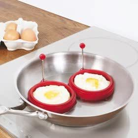 Set Of 2 Non Stick Silicone Egg Rings
