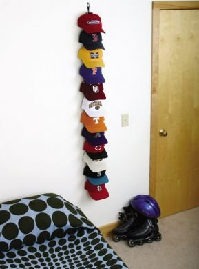 Cap rack baseball hat storage and display system at shop for Baseball cap display ideas
