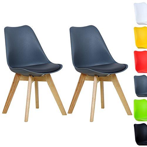WOLTU-BH29gr-2-2-x-Esszimmersthle-2er-Set-Esszimmerstuhl-Design-Stuhl-Kchenstuhl-Holz-Neu-DesignGrau