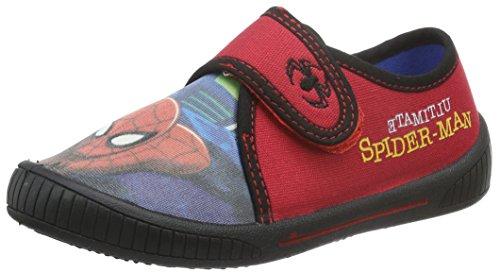 SpidermanBoys Kids Velcro low Houseshoes - Pantofole con imbottitura leggera  Bambino , Rosso (Rot (NAV/Hre/Blk 427)), 29