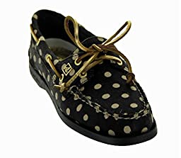 Sperry Top-Sider Women\'s A/O Haircalf Shoe, Black / Ivory Choose Size: 7.5 (Euro 38)