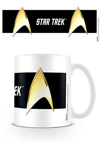 Star Trek - Tazza di ceramica Insignia, colore: nero