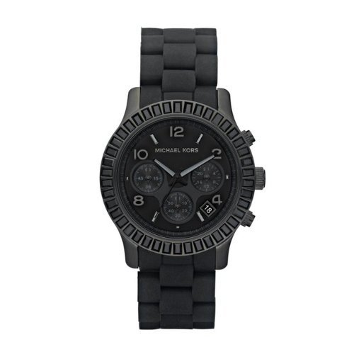 Michael Kors Women'S Black Stainless Steel Link Bracelet Quartz Chronograph Mk5512