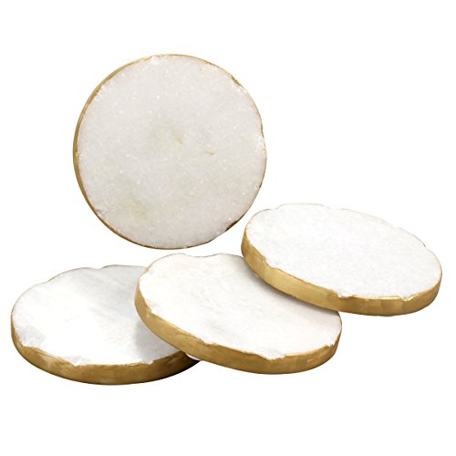 thirstystone-round-white-marble-gold-edged-coasters-set-of-4-multicolor