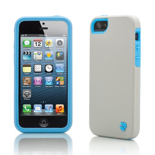 Innovez Eco Friendly Interchangeable iPhone 5 Case (Gray/Blue)